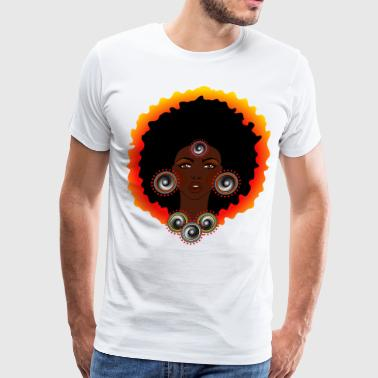 AFROCENTRIC WOMAN OF MUSIC GRAPHIC TEE - Men's Premium T-Shirt