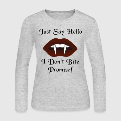 Just Say Hello Womens Long Sleeve T-Shirt - Women's Long Sleeve Jersey T-Shirt