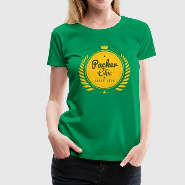 Packer Chic Retro.png Women's T-Shirts - Women's Premium T-Shirt