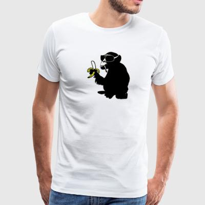 cool smoking monkey T-Shirts - Men's Premium T-Shirt