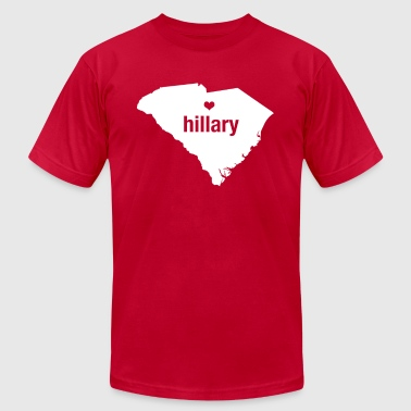 South Carolina Loves Hillary - Men's T-Shirt - Men's T-Shirt by American Apparel