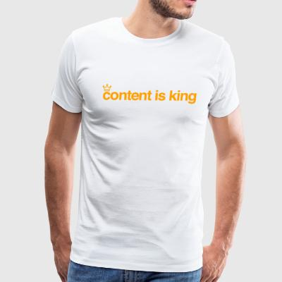 content is king - Men's Premium T-Shirt
