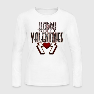 Happy Valentine DSS Womens Long Sleeve T-Shirt - Women's Long Sleeve Jersey T-Shirt