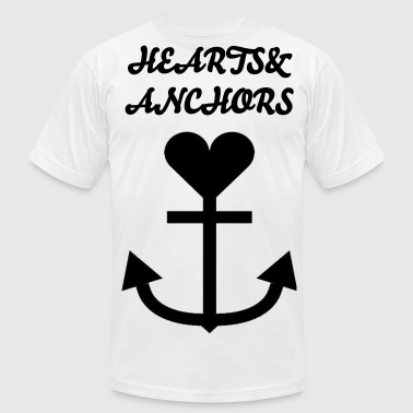 Hearts&Anchors: Basic Big Logo - Men's Fine Jersey T-Shirt