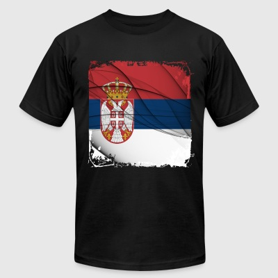 Serbia Flag T-shirt - Men's T-Shirt by American Apparel