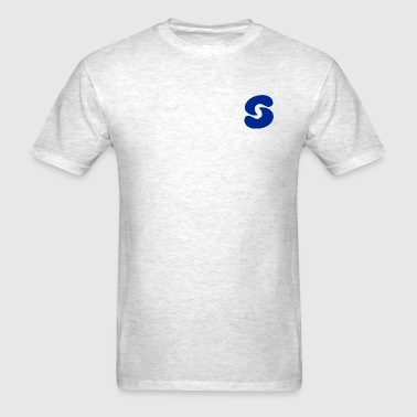 SPACEY NAVY LOGO SHORT SLEEVE - GRAY - Men's T-Shirt