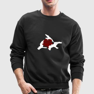 Rose birds sweater (WHITE PRINT) - NEKLEY`s specia - Crewneck Sweatshirt