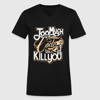 Code Kill You V-neck Tshirt - Men's V-Neck T-Shirt by Canvas