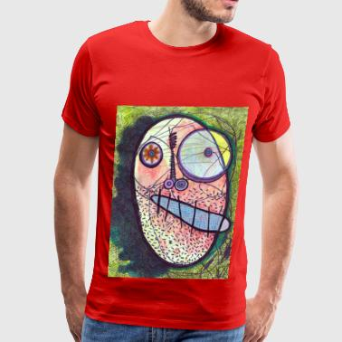 F is for Face -Red - Men's Premium T-Shirt