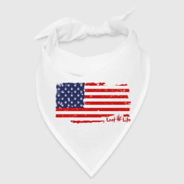 US Flag Leaf Life - Bandana