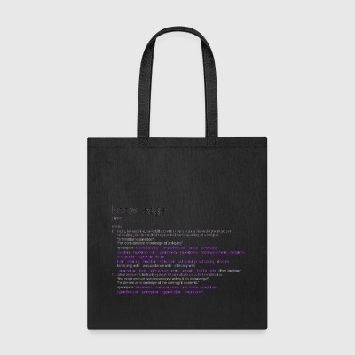 Knowledge - Tote Bag