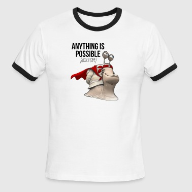 Anything is Possible (with a cape) - Men's Ringer T-Shirt