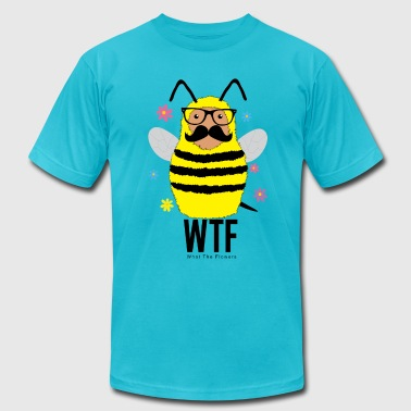 What The Flowers Bee - Men's T-Shirt by American Apparel