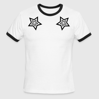 StarMaster White with LC trident by CyberSpaceVIP - Men's Ringer T-Shirt