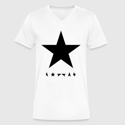 david bowie blackstar tshirt - Men's V-Neck T-Shirt by Canvas