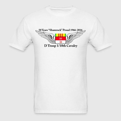 D Troop 50th Anniversary Standard T-Shirt WHITE - Men's T-Shirt