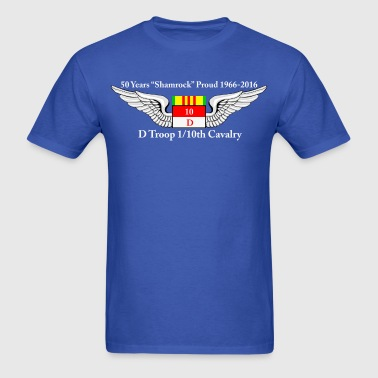 D Troop 50th Anniversary Standard T-Shirt BLUE - Men's T-Shirt