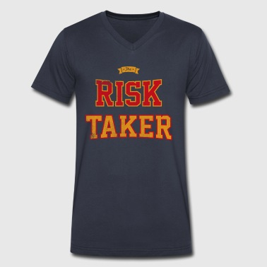 The Risk Taker - Men's V-Neck T-Shirt by Canvas
