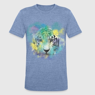 Abstract Tiger - Unisex Tri-Blend T-Shirt by American Apparel