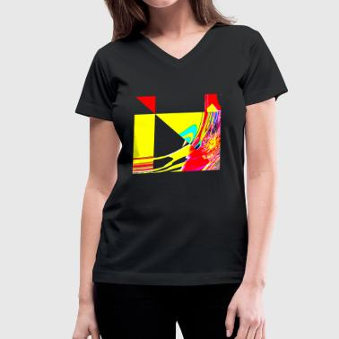 the wind is blowing - Women's V-Neck T-Shirt