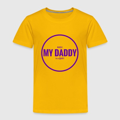 Roo Daddy Que Solid Purple - Toddler Premium T-Shirt