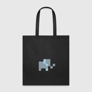 Pixel Elephant Bags & backpacks - Tote Bag