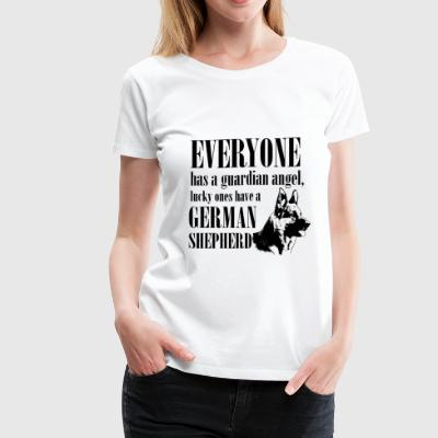 Everyone has a guardian angel, lucky ones have a G - Women's Premium T-Shirt