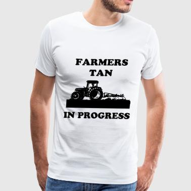 Farmers tan in progress - Men's Premium T-Shirt