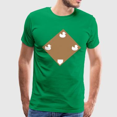 Ducks on a Pond - Green - Men's Premium T-Shirt