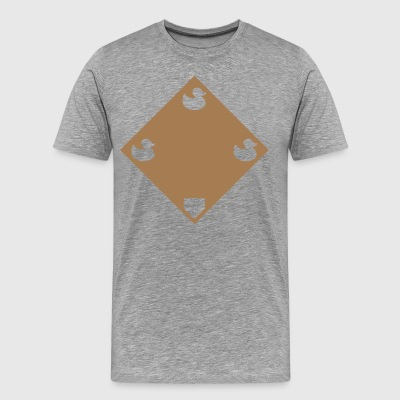 Ducks on a Pond - Road Grey - Men's Premium T-Shirt