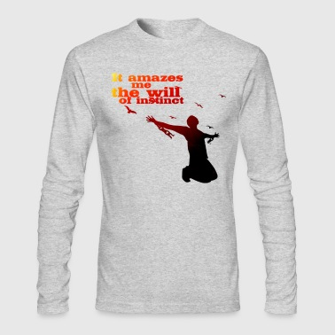 The will of Instinct - Men's Long Sleeve T-Shirt by Next Level