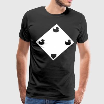 Ducks on a Pond - Black - Men's Premium T-Shirt