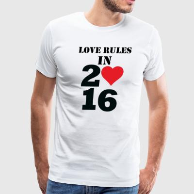 LOVE RULES IN 2016 - Men's Premium T-Shirt