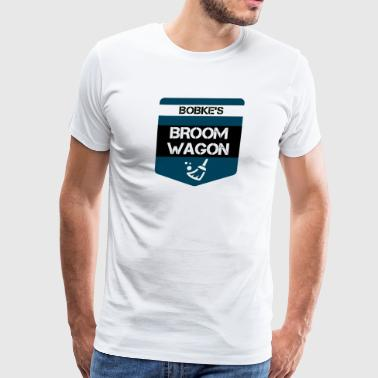 Broom Wagon Show T-shirt by Bob Roll - Men's Premium T-Shirt