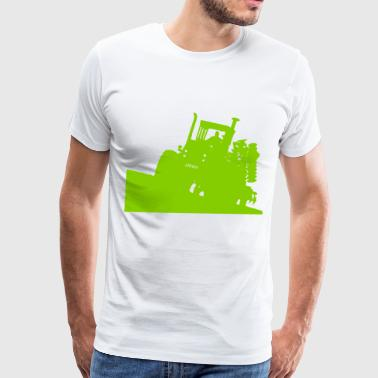 Steiger tractor with disc - Men's Premium T-Shirt