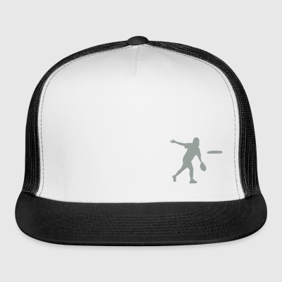 Ultimate Frisbee Hat: Backhand Silhouette - Trucker Cap
