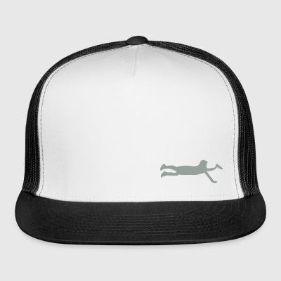 Ultimate Frisbee Hat: Layout Silhouette Hat - Trucker Cap