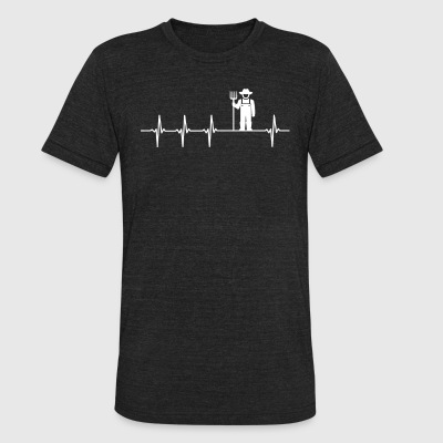 Farmer Job Heartbeat Love - Unisex Tri-Blend T-Shirt by American Apparel