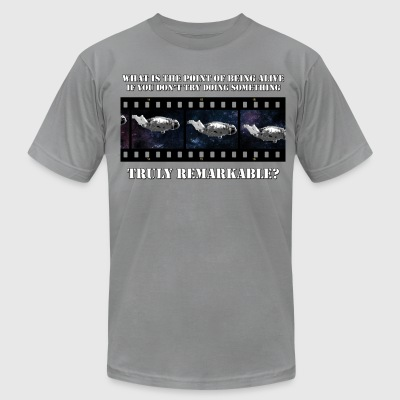 Existential Astronaut - Men's T-Shirt by American Apparel