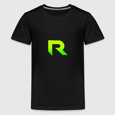 Black T Shirt With Rev Logo - Kids' Premium T-Shirt