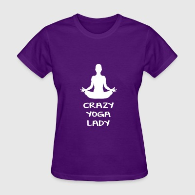 CRAZY YOGA LADY - Women's T-Shirt