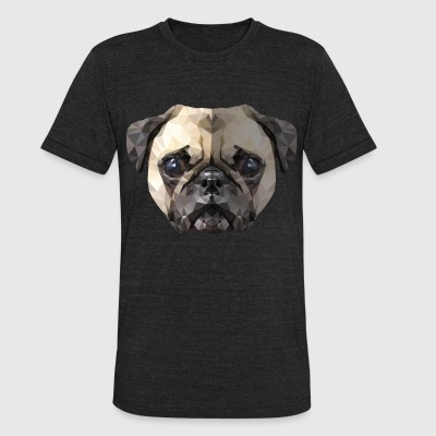 The Pug - Unisex Tri-Blend T-Shirt by American Apparel