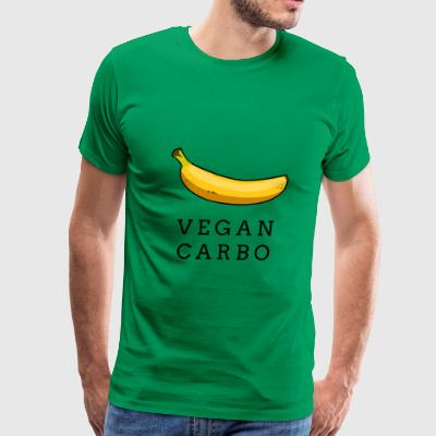 Vegan Carbo - Banana Mens Cotton Tee - Men's Premium T-Shirt