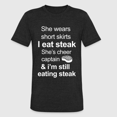 Funny Steak Lover - Unisex Tri-Blend T-Shirt by American Apparel