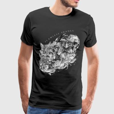 Flawless Shades human and skeleton 3 - Men's Premium T-Shirt