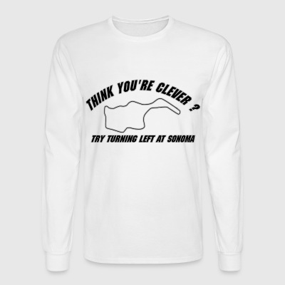Think your clever ?  Long Sleeve Shirts - Men's Long Sleeve T-Shirt