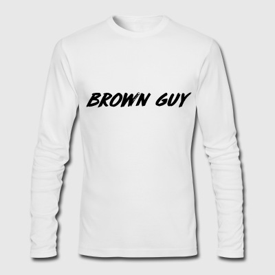 Brown Guy longsleeve shirt - Men's Long Sleeve T-Shirt by Next Level