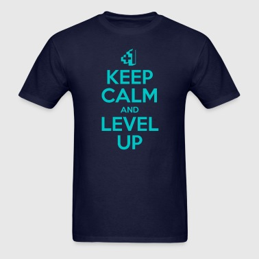 Keep Calm and Level Up - Men's T-Shirt