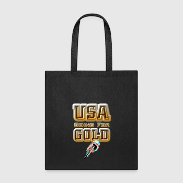 USA Going For GOLD Cycling Tote Bag - Tote Bag