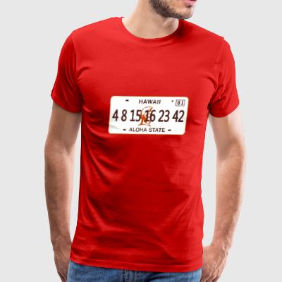 Lost Numbers License Plate  - Men's Premium T-Shirt